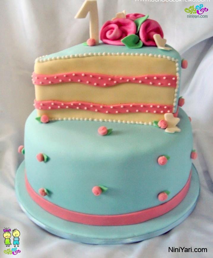 عکس کیک تولد یکسال