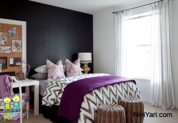 استفاده از بنفش در اتاق خواب ، رنگ بنفش در دکوراسیون