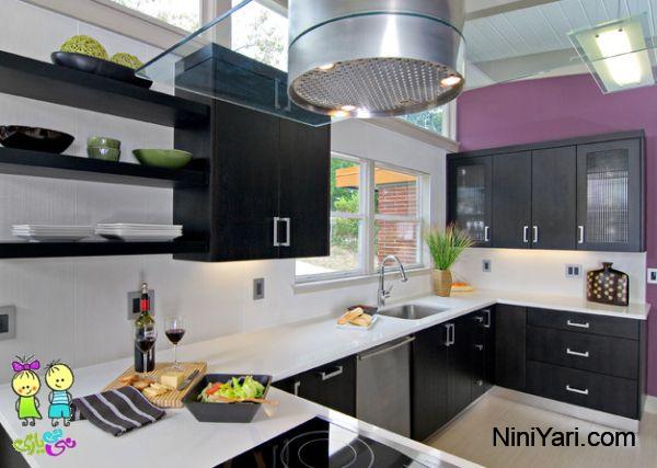 استفاده از رنگ بنفش در آشپزخانه مدرن، رنگ بنفش در دکوراسیون مدرن