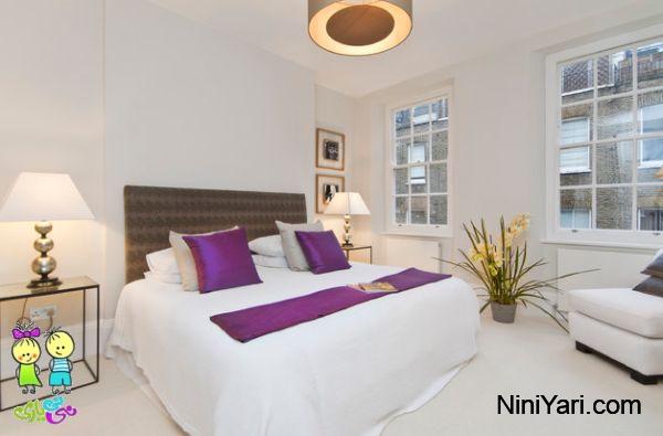 استفاده از بنفش در طراحی داخلی،به کارگیری بنفش در دکوراسیون منزل، بنفش در اتاق خواب