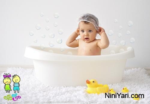 چگونه نوزاد را حمام کنیم؟