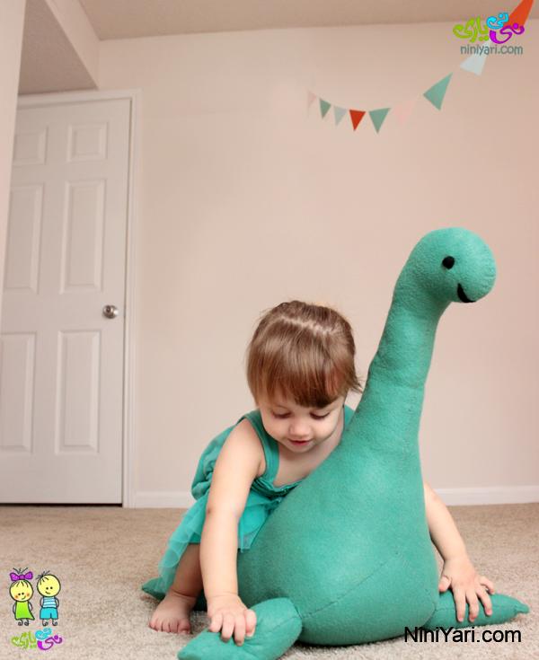 عروسک نمدی دایناسور