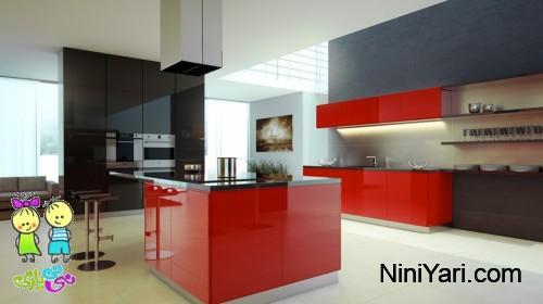 دکوراسیون آشپزخانه به رنگ قرمز