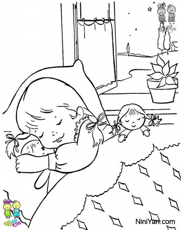 for Sleeping coloring page