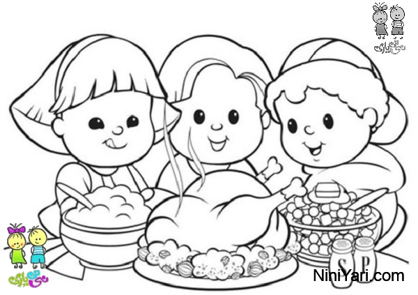 kaboose coloring pages thanksgiving meal - photo #38