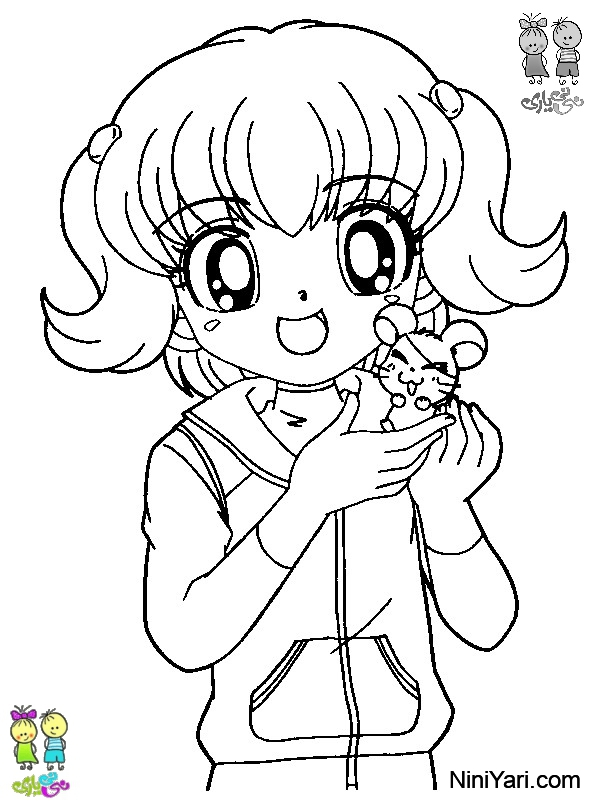 hamtaro_happy_with_the_girls_coloring_pages_free__hamtaro_happy_girl_coloring_sheets_