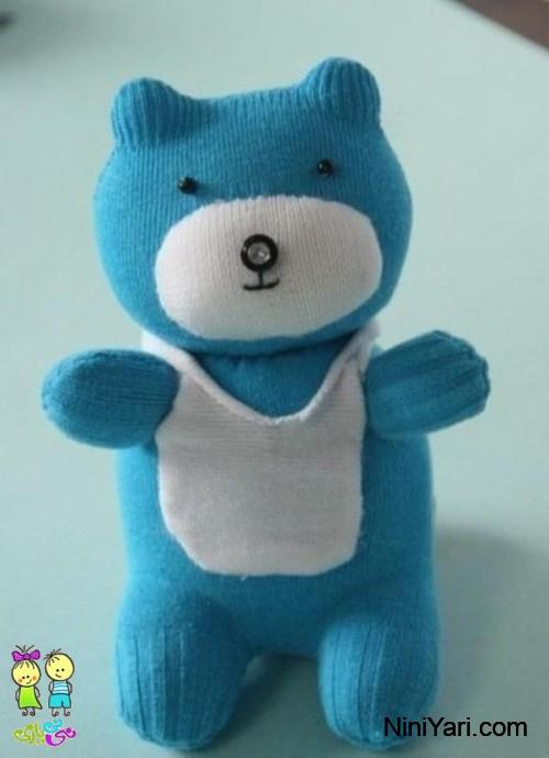 درست کردن خرس عروسکی با جوراب