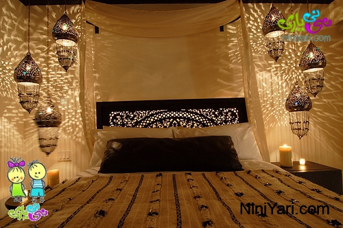 bedroom-decoration-with-candles-lights-6