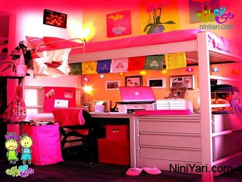 تخت دو طبقه مخصوص اتاق کودک