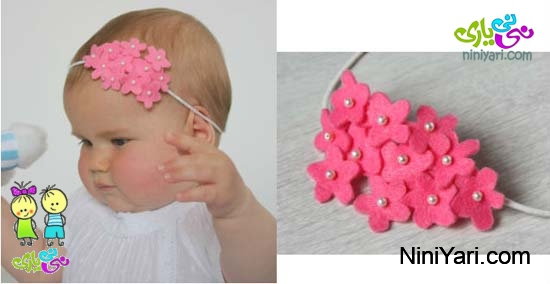 اموزش سبدمیوه نمدی 16  Baby Headbands With Flowers آموزش ساخت هد بند نوزاد با شکوفه های نمدی نی نی یاری,Franelas Y Tutus Personalizadas Para Ni 241