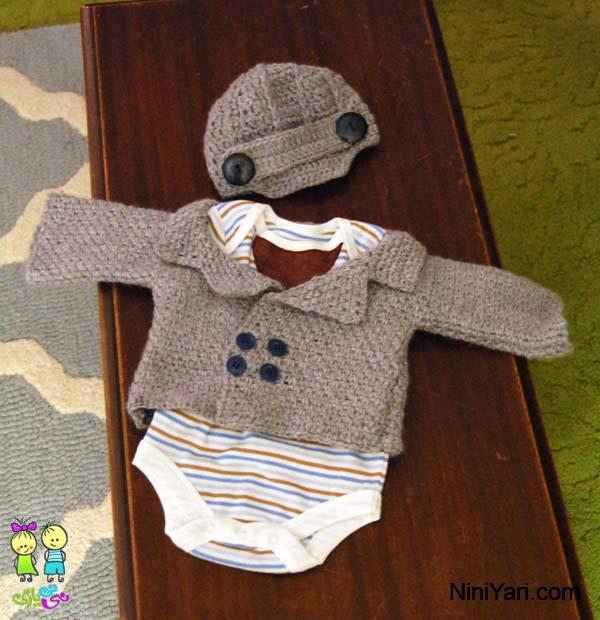 آموزش+بافت+لباس+نوزادی+پسرانه