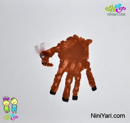 نقاشی انگشتی حیوانات