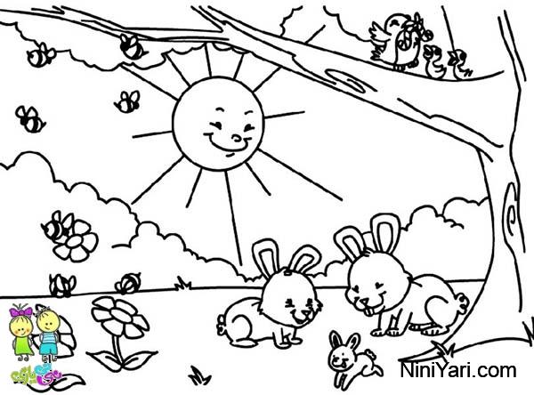مدل نقاشی کودکان برای رنگ آمیزی
